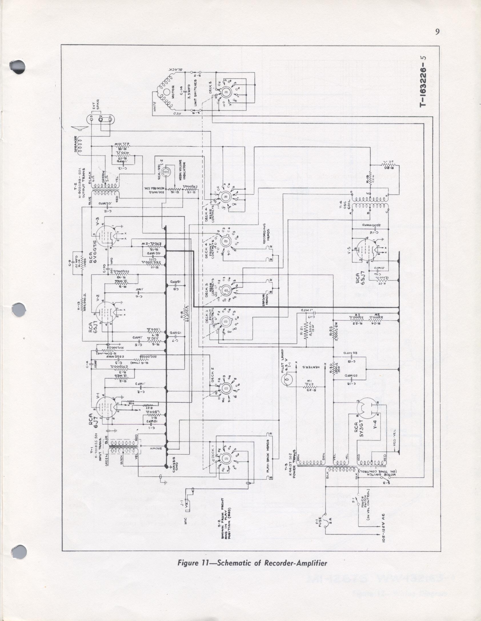 rca model m1 wire recorder rh smecc org Wire Tape Recorder webster chicago wire recorder schematic