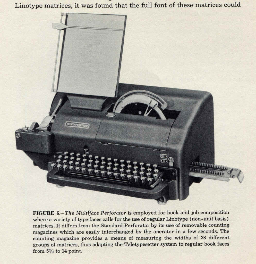 Teletypes in Typesetting
